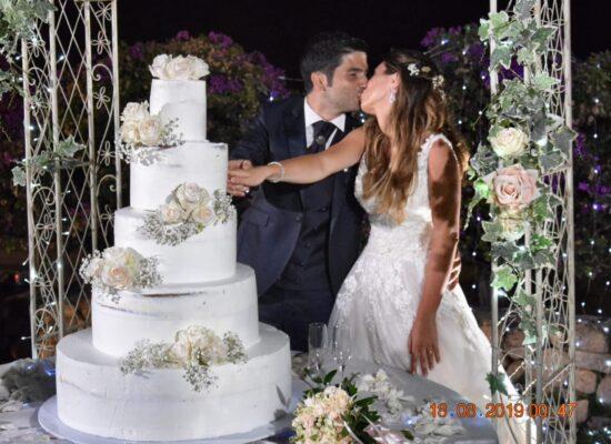 matrimonio con torta